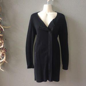 Eileen Fisher leather trim jacket